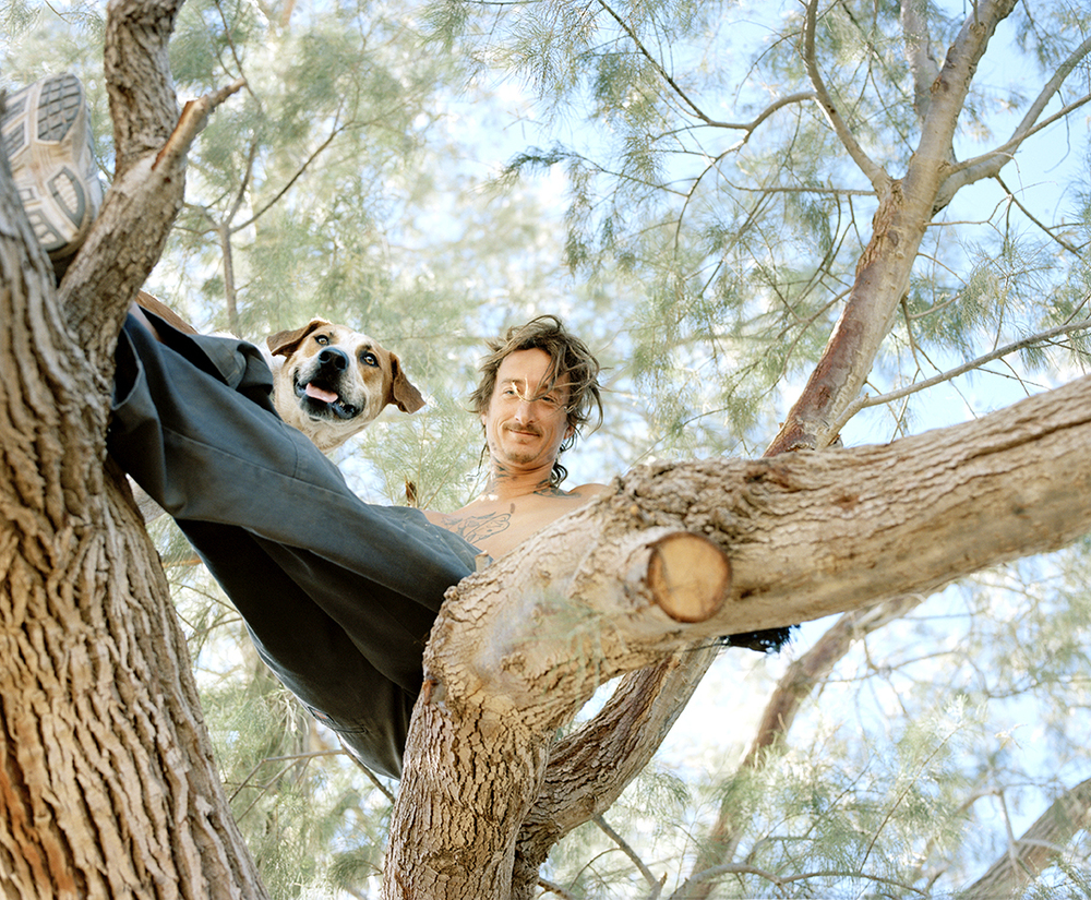 Ryan and his dog Ajax. If Ryan climbed a tree Ajax would always follow.
