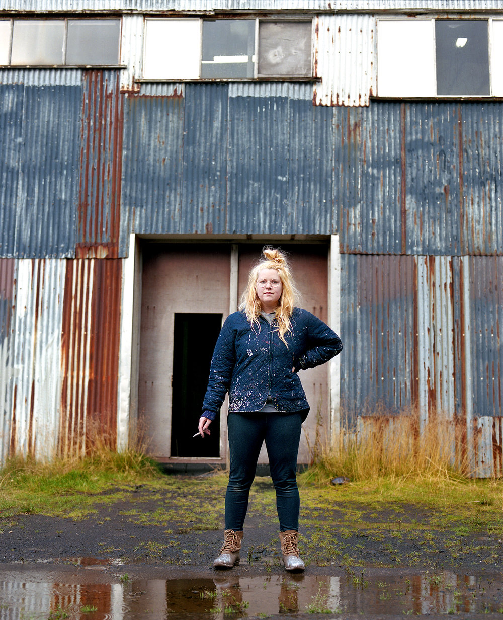 Heidi outside the Fish Factory She is working towards creating an artist residency of her own on her family farm. She is also working towards obtaining a school bus to transform into a traveling residency. This residency would create pop up shows as it travels the states.