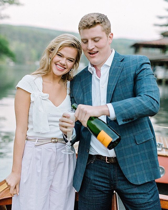 Cheers to the long weekend and happy wedding month to these two! 📷 @amyarringtonphotography ⠀⠀⠀⠀⠀⠀⠀⠀⠀ #engagement #engagementphotos #lakeburton #cheers #chriscraft #couple #love #septemberwedding #luxurywedding #luxuryweddingplanner #southernweddings  #wedding #weddingseason #weddingday #weddingplanner #atlantaweddingplanner #southernwedding #southerncharm #southern #bride #groom #brideandgroom #bridal #georgiawedding #weddingdetails #weddingdesign #engagement #engagementshoot #champagne #darling