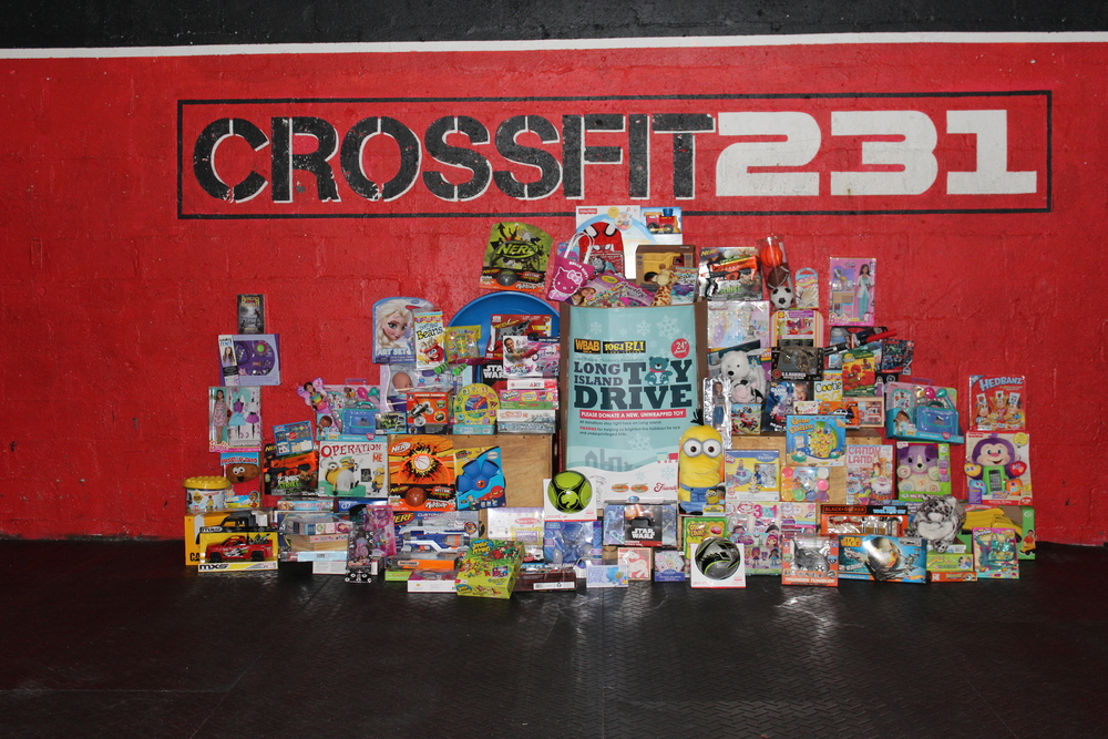 The toy drive was a HUGE success!!!  We collected 138 toys!!!  To all who donated, we here at CrossFit 231 thank you so very much.  You had a part in making a child's Christmas that much more special.