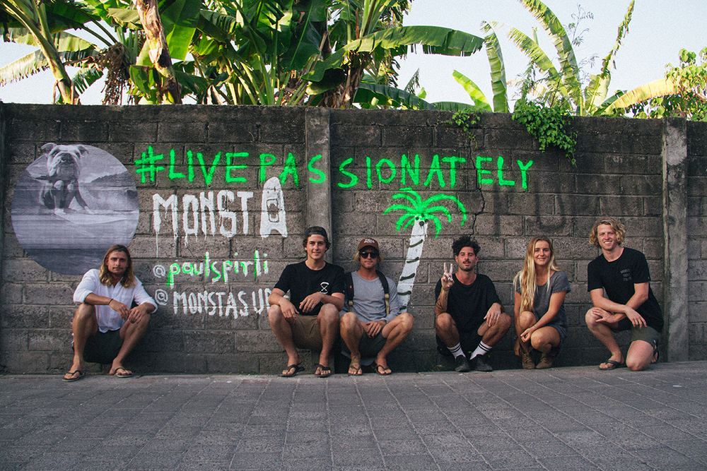 Some of the A team // My good buddy Paul Spirli splashed this artwork up on a wall in Canggu. Paid the owners 200,000 IDR... They were frothing!