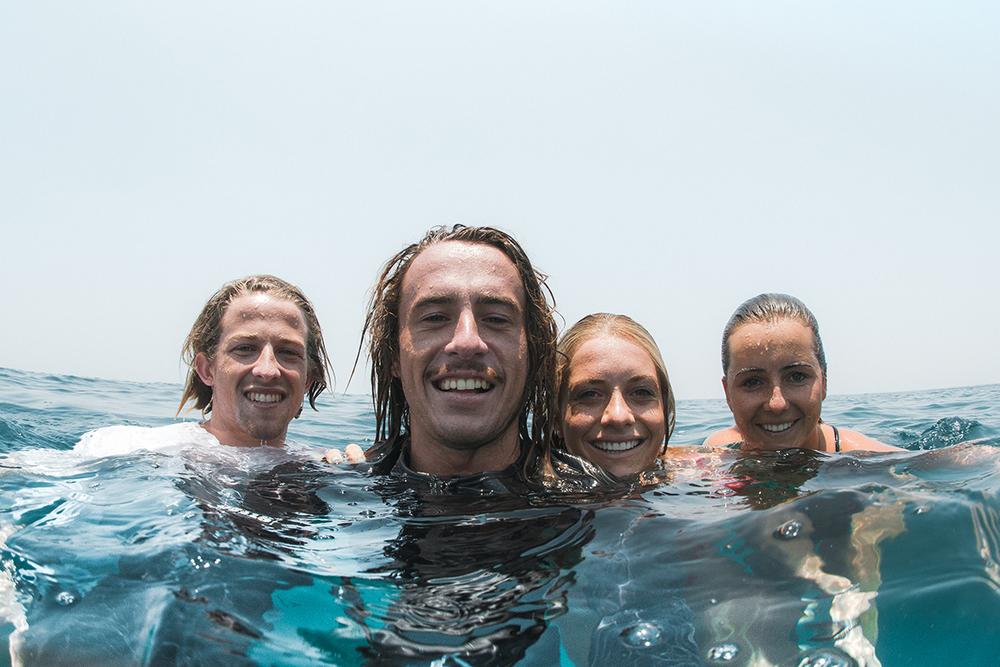 Tarnea, Brebsy, Hayden and myself // Relaxing in some dreamy waters
