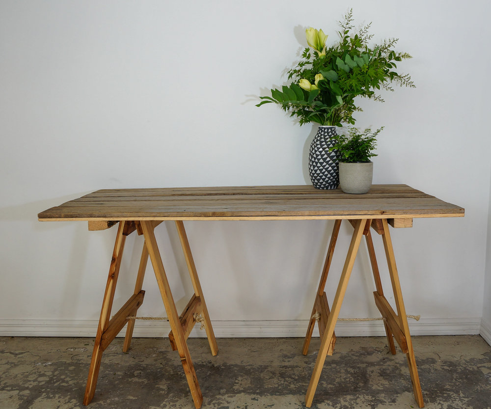 Trestle Table rustic - Small