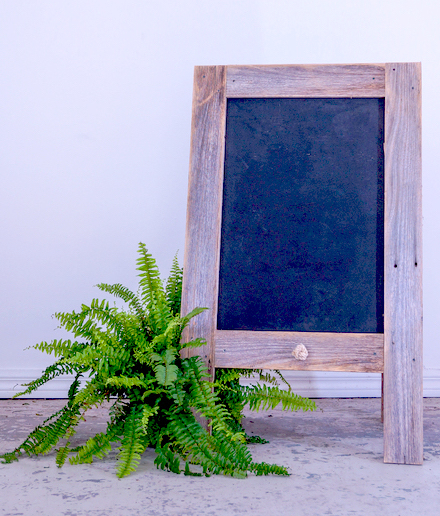 A Frame Black Board