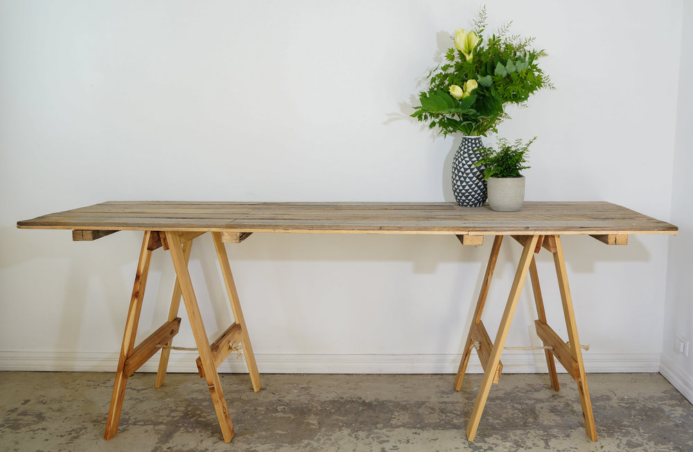 Trestle Table - Rustic - Large