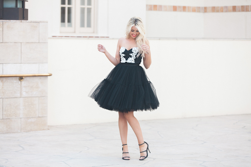 Seen on Model:  The Skylar in Black ,  Black Magnolia Peplum Top