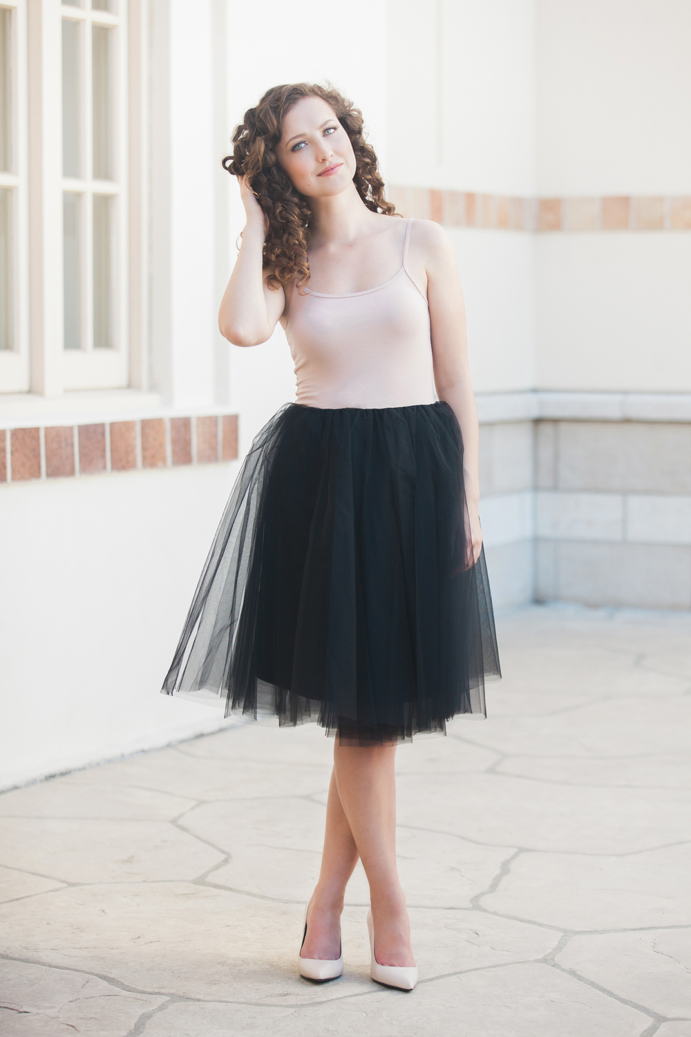 Seen On Model: The Nima Dress - Black/Blush