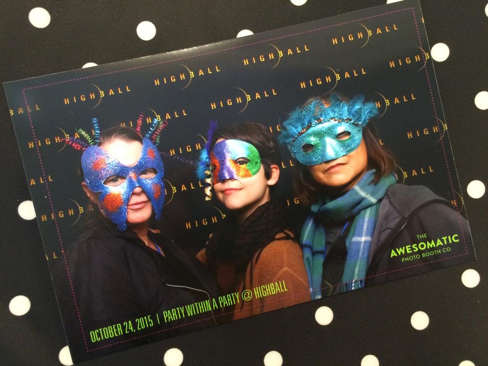 Highball: Eileen Kinsella of Artnet News, me, and Scarlett Cheng of Artillery Magazine.