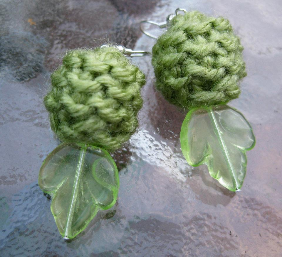 Knit Bead Earrings