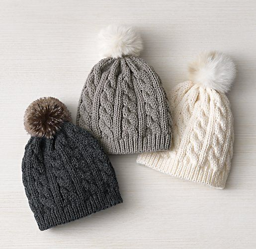 2. Cabled Beanie