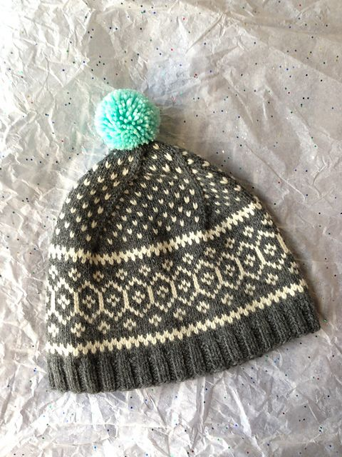 8. Fair Isle Pattern Hat