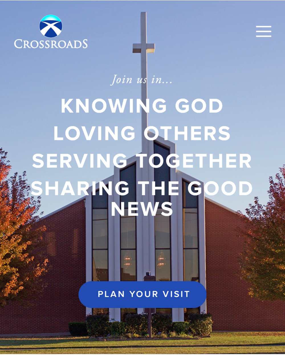 New Crossroads Landing Page (click to open in a new window)