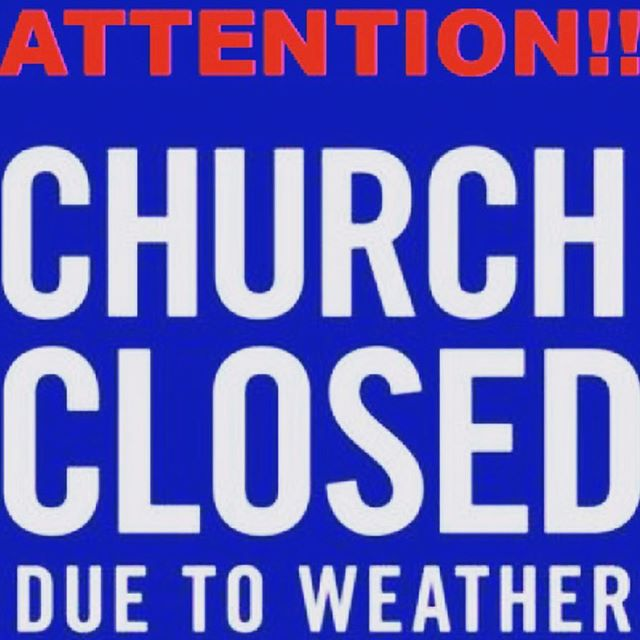 All services for 3/3 are cancelled. Stay safe and warm.