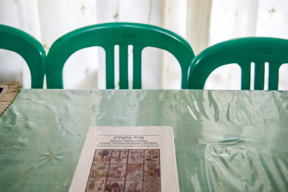 The first Siddur ever created in Bahasa Indonesia, translated by Vicky Rambutuana in Manado. It took him over a year to translate.