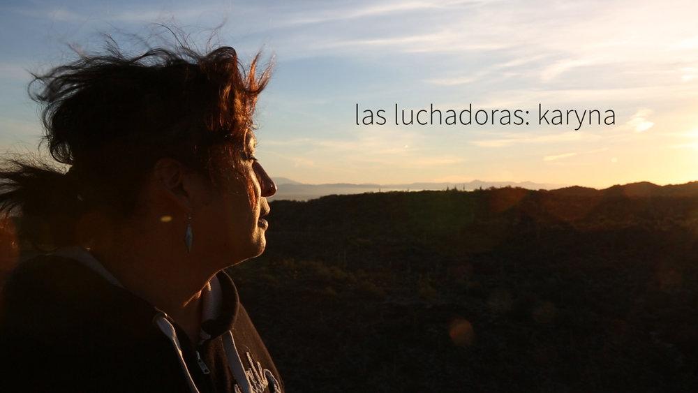 Karyna, a fearless leader of Trans Queer Pueblo in Phoenix, Arizona, has faced many obstacles to become the woman she is today.  Karyna, una líder sin miedo de Trans Queer Pueblo en Phoenix, Arizona, ha superado tantos obstáculos para convertirse en la mujer que es ella hoy.