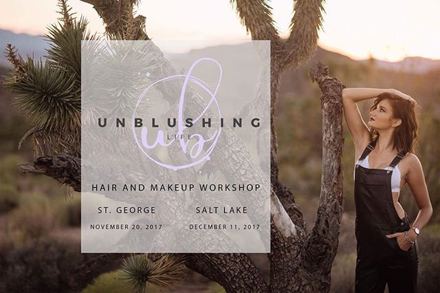 Ok it's time!!! I'm so excited! I have partnered with my favorite partner in crime @evanstowers and together we are bringing you @unblushing.life Hair and Makeup Workshop! It's everything you have ever wanted in a hair and makeup class plus so much more! Go to unblushinglife.com for all the details! (Link in @unblushing.life bio) Come learn with us! Sign up now for St. George or Salt Lake!
