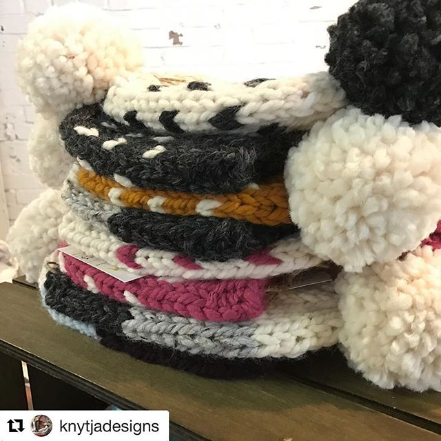 #Repost @knytjadesigns with @repostapp ・・・ Last sale of the year guys. This is it! AND if you help me hit my 100th sale, I'll hold a giveaway contest. Woot woot! Check out Festivus at 400 W Rich and Creative Babes right next door at Strongwater for double the handmade goodness! @400market @creativebabes #shoplocal #asseenincolumbus #shoplocal #knitting #pompomsfordays #knitting #etsy #etsyseller