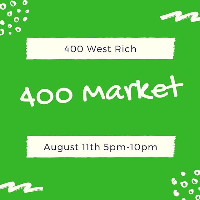 Our next market will be August 11th from 5-10pm. We will be outside of @400westrich and @chromedgestudios  Vendors: Wanna join the fun? Click the link in the profile to apply! * * * * #franklinton #franklintonfriday #400market #400westrich  #Chromedge