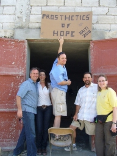 Austin medical team who worked hard to establish the new prosthetic clinic at Mission of Hope