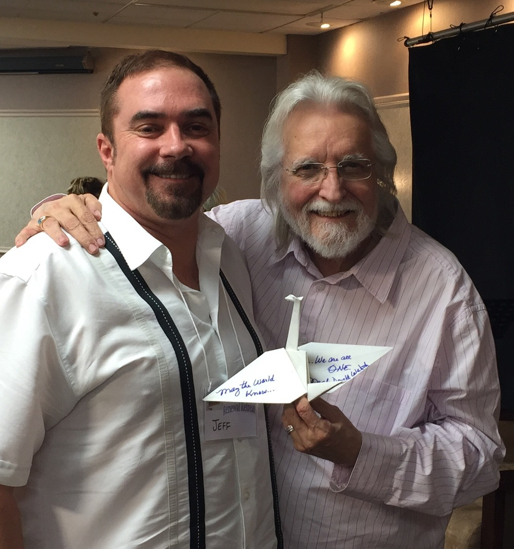 Jeff Cotter with author Neale Donald Walsch and his wish