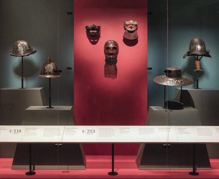 DENVER ART MUSEUM - HELMET MOUNTS FOR SAMURAI EXHIBITION