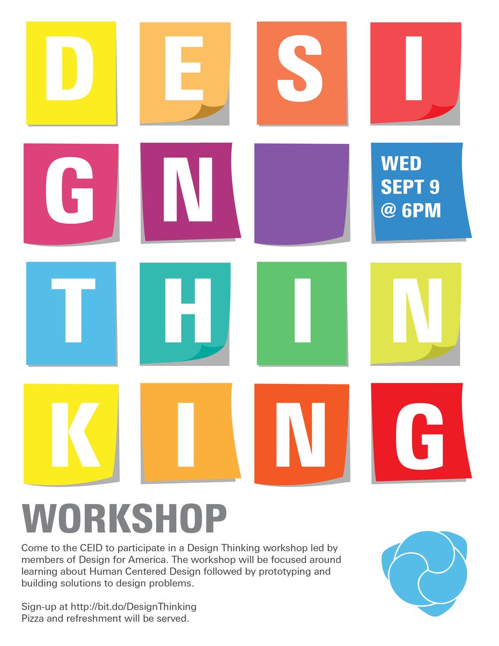 Poster design workshop - Design Thinking Workshop Jpg