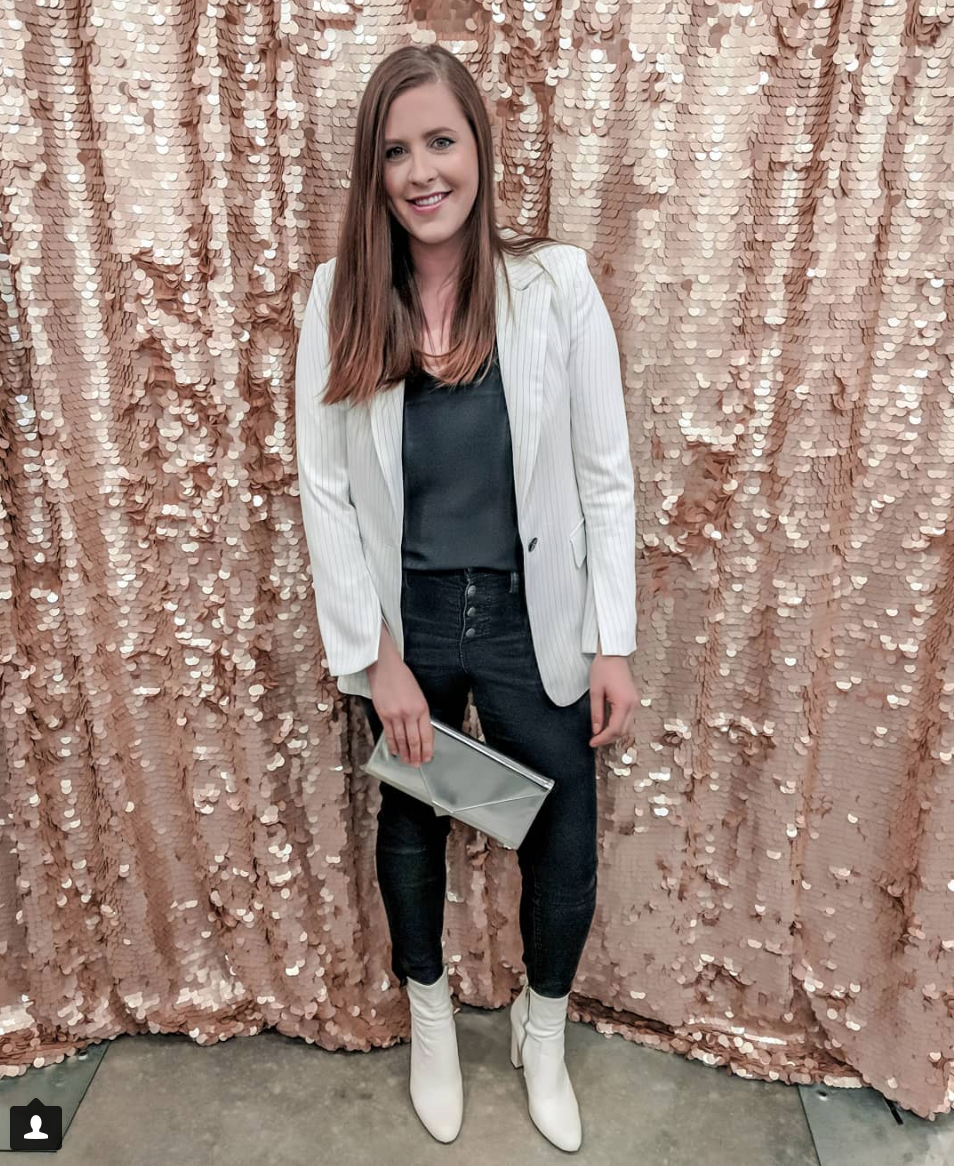 Black and White  - Blazer: H&M // Denim: MADEWELL // Booties: NORDSTROM