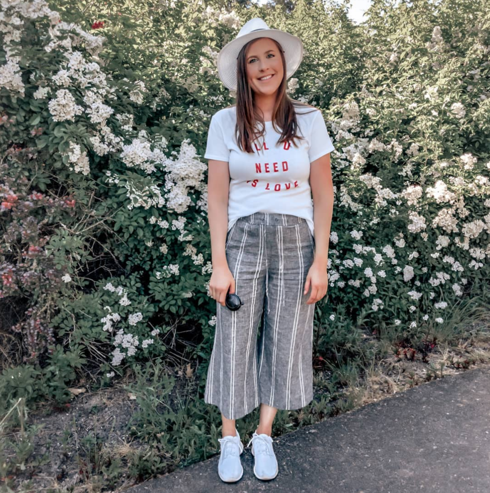 linen culottes graphic tee nordstrom outfit stylebyjulianne instagram roundup