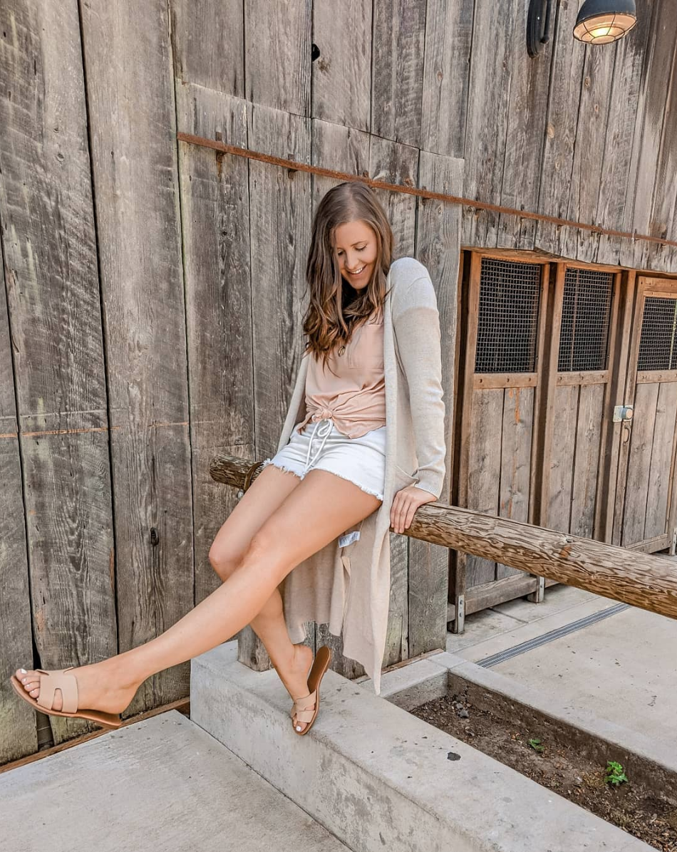 Blush Tones - I can't stop wearing all of these pieces! This Tee is a favorite and is under $16 on sale, and these shoes are only $17!The shoes are a must, I wear mine all the time! Shorts are also 60% off currently.TOP // CARDIGAN // SHORTS // SHOES //
