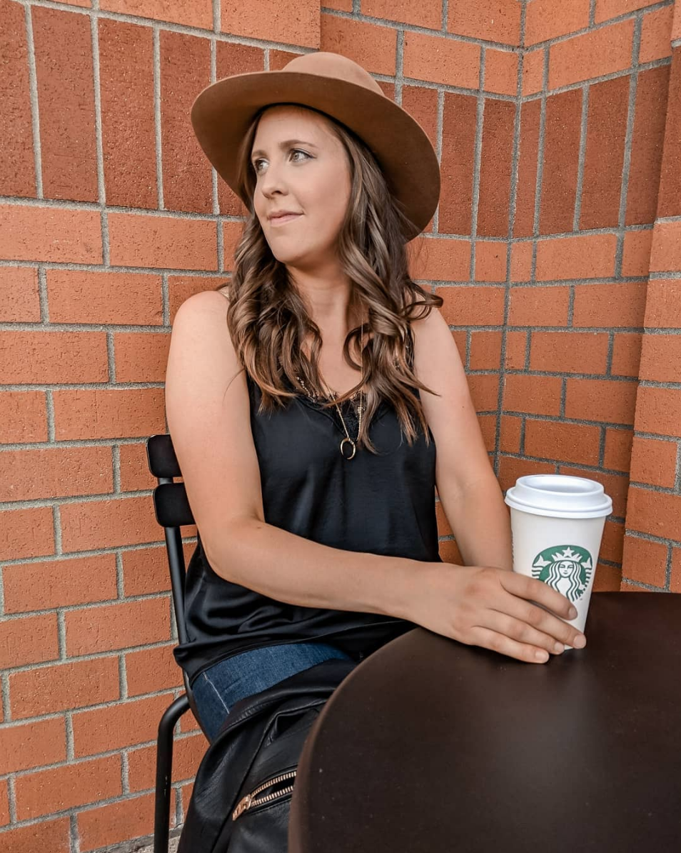 #PSL - You've seen this hat on me a million times already this month, it's an investment but TOTALLY worth! This lace cami is my all time fav, comes in 5 colors! The jeans I'm wearing are my favorite dark wash skinnies and they just went on sale for under $40. Scoop 'em up before they're gone!HAT(similar/affordable option HERE) // CAMI // NECKLACE // JEANS // MOTO JACKET //