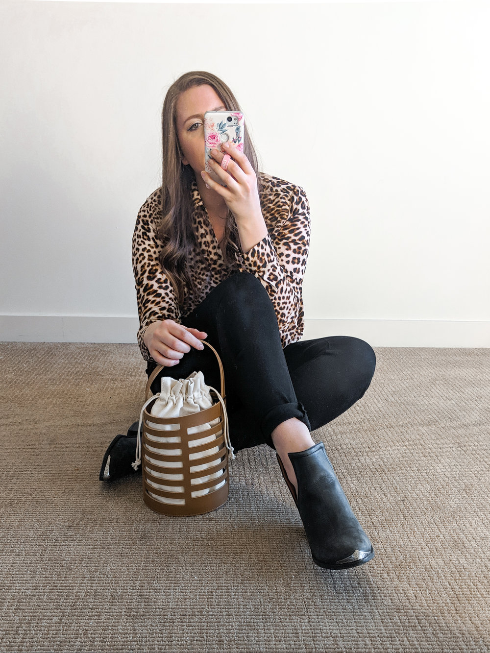 Nordstrom Animal Print Blouse Style by Julianne