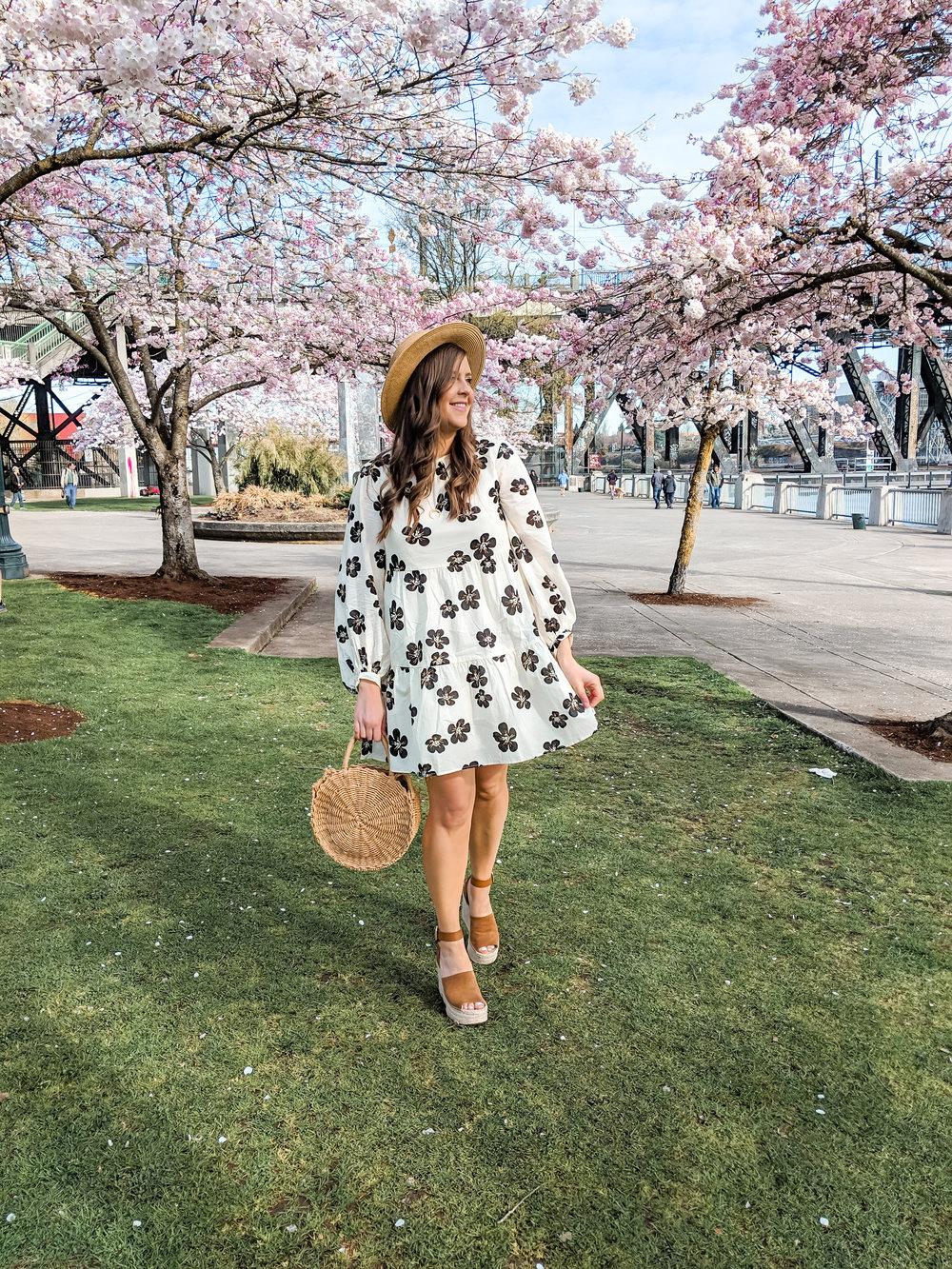 Floral Target Dress Cherry Blossoms