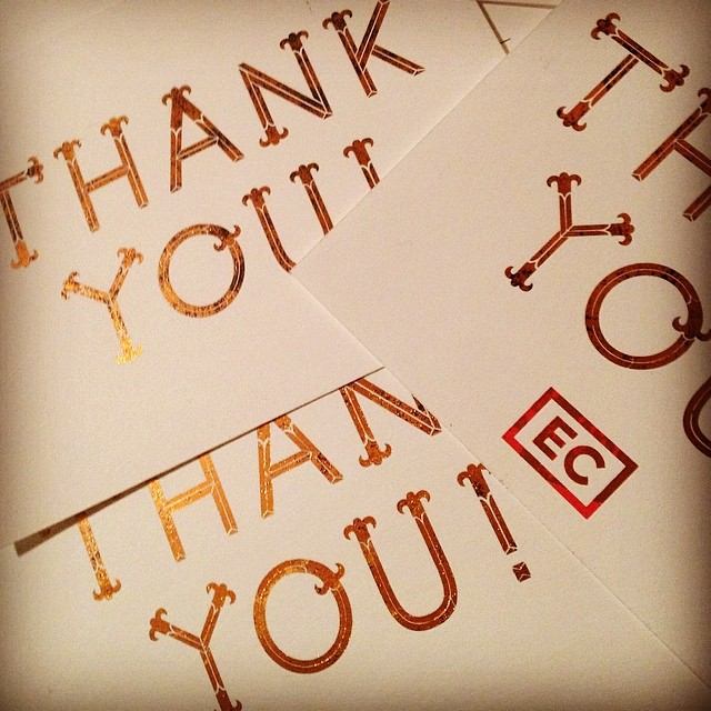 Late night foil session + typeface that I designed long time ago. #foil #thankyoucards #designersdontsleep