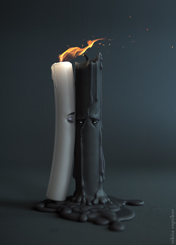 Candles,Nikita Veprikov | Digital artist and illustrator #artpeople