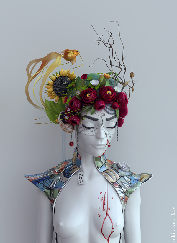 Porcelain,Nikita Veprikov | Digital artist and illustrator #artpeople