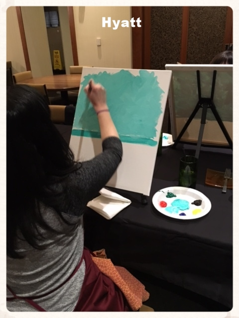Hyatt Paint night in Wichita, KS