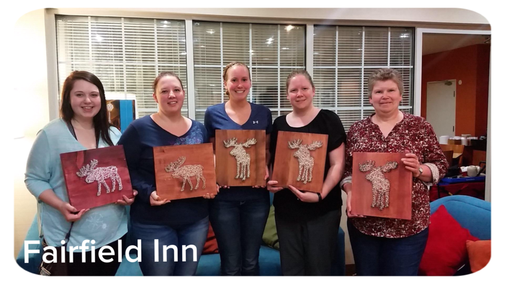 Fairfeild Inn-String art