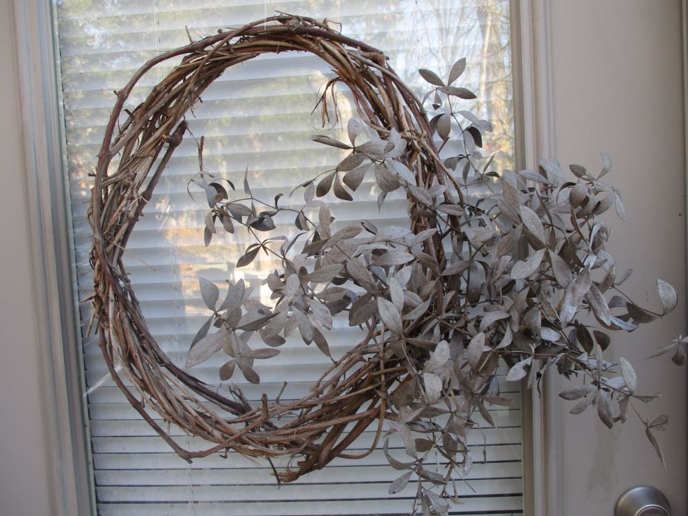This is a great month to collect dried flowers for decorative outside wreaths. These gray additions are long-bracted wild indigo branches. (Photos by Charlotte Ekker Wiggins)