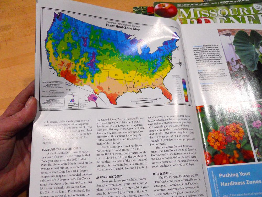 Wondering about the USDA Hardiness zones? Missouri Gardener magazine explains the zones.