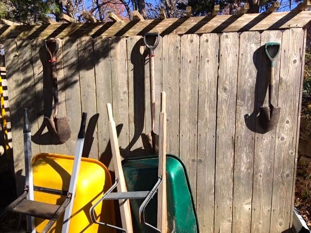 Find a place to store garden tools where you can easily find them. (Photo by Charlotte Ekker Wiggins)