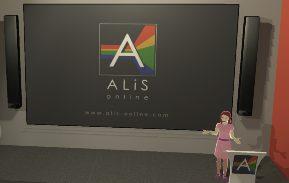 An example of our ALiS Online lecture theatre
