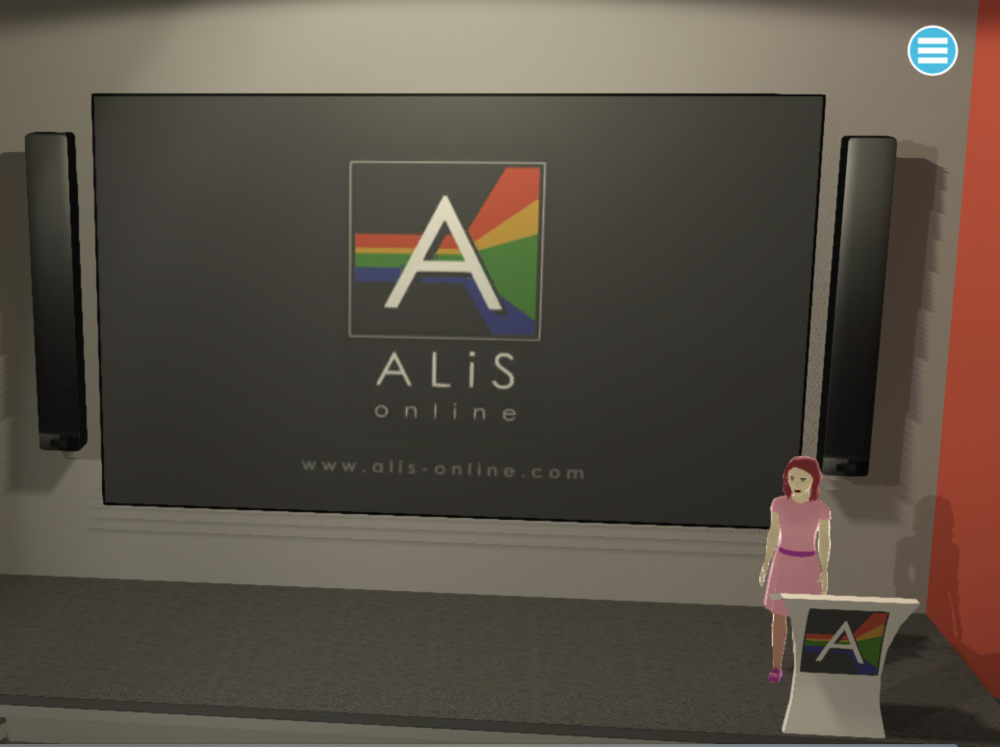 An example lecture theatre in ALiS Online