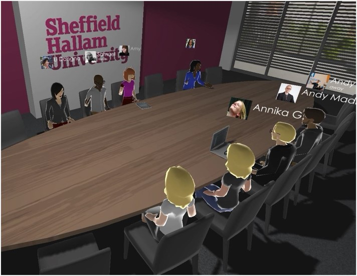 a meeting room in ALiS Online