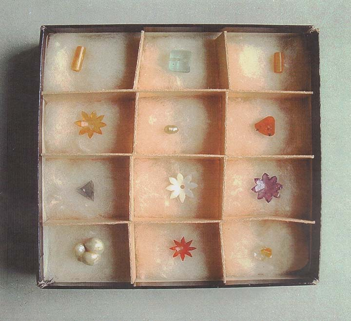 box of jewels from Piprahwa stupa 'given to the  buddhist society. Picture courtesy of Charles Allen.