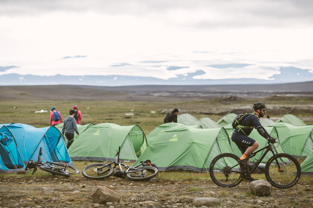 Photo: Juliette Rowland, riders ready to leave camp in Hveravellir