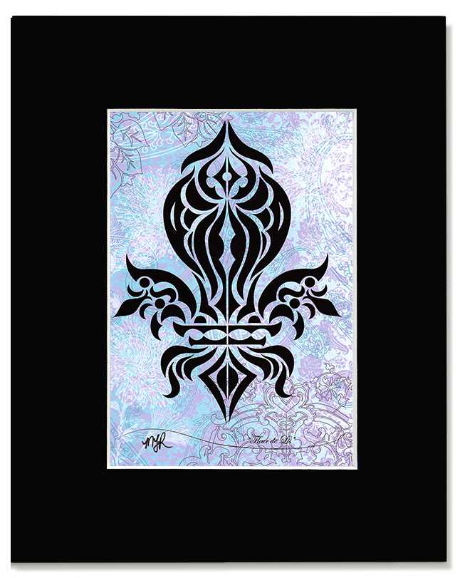 Fleur de Lis - Original Black French Provincial Art Print