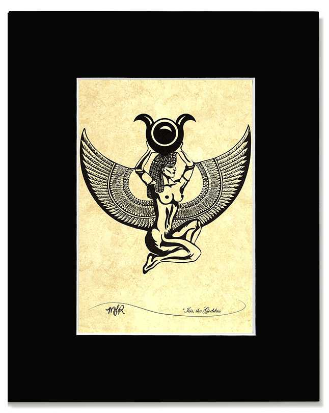 Isis the Goddess -Contemporary  Egyptian Art Print