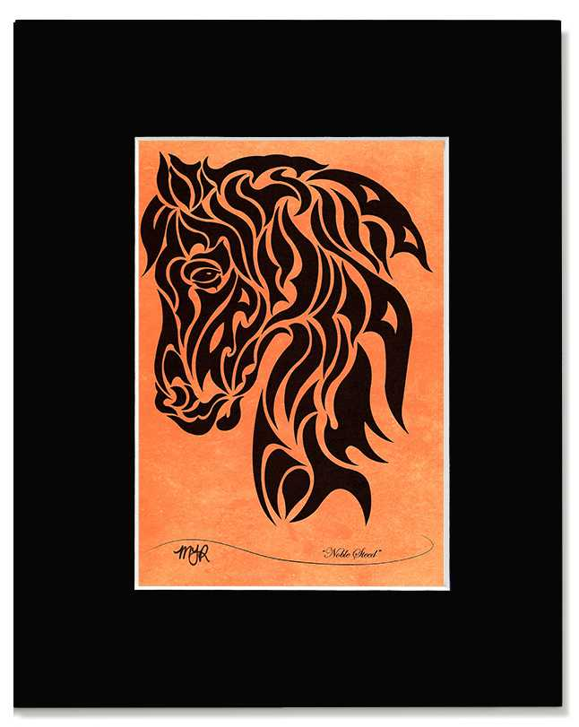 Noble Steed - Abstract, Tribal Horse Head Art Print