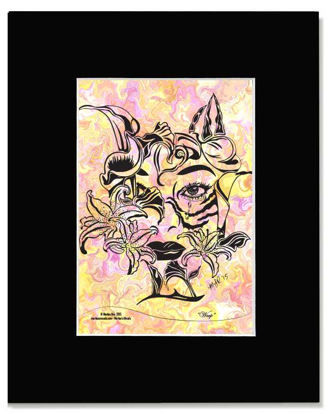 Weep -I Am Woman - Contemporary, Modern, Floral, Feminine Art Print