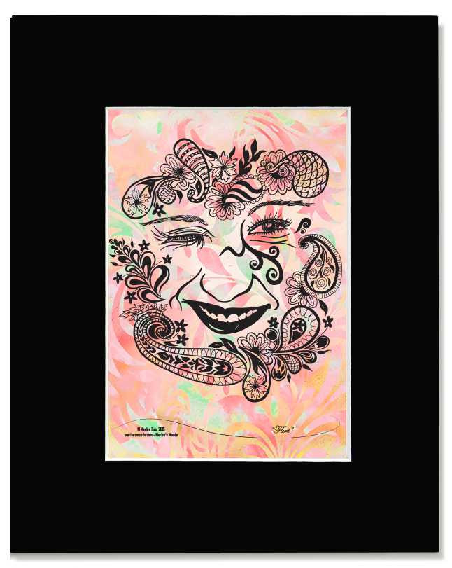 Flirt -I Am Woman - Contemporary, Modern, Floral, Feminine Art Print